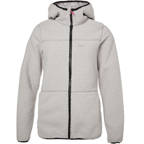 North Bend Pile Hoodie de forro polar Mujer, light grey